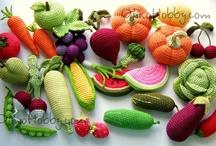 crochet fruits, vegetables etc