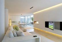 Licht im Wohnzimmer / Inspirierende Ideen für Ihre Wohnzimmer-Beleuchtung. #led #licht #light #wohnzimmer #lighting