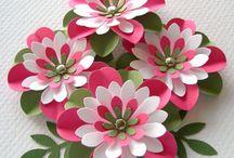 Fleurs papier tissus