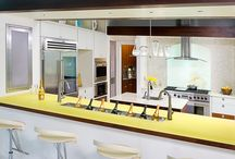 Modern Kitchen by Hartert-Russell / White and Walnut Modern Kitchen by Hartert-Russell