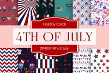 4th Of July / Digital Papers - 4th Of July By Digital Paper Shop