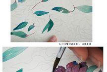 水彩画のイラスト