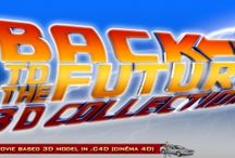 """BTTF 3D collection / Collection of """"back to the future"""" 's 3D models made in Cinéma 4D"""