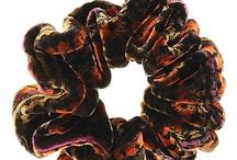velvet scrunchies / I love to stick my nose in worn velvet scrunchies *blush - so I'm always searching for worn and smelling velvet scrunchies