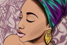 black woman / desenhos, frases e negritude
