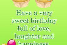 Birthday wishes.