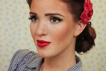 pin-up retro hair