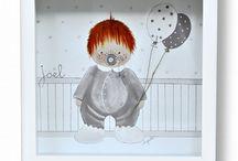 Colección Dulce-Cuadros Infantiles Personalizados / Colección Dulce de cuadros infantiles artesanales y personalizados de www.kdekids.com