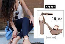 Agape 26,99€ || Γυναικεία Πέδιλα Λουστρίνι με Μπαρέτα Μεταλλιζέ