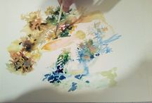 coral / aquarelle