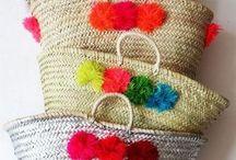 Artesanato: cestas e almofadas de praia