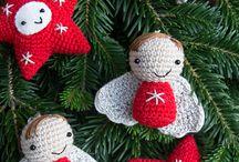 Háčkované dekorácie vianočné