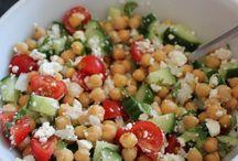 Salades délicieuses .