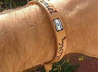 Personalized Leather Bracelets / Leather braceletsOur leather bracelets are hand personalized using the heat-etching technique (as in wood etching) with names and small icons. Your name is inscribed in English or in any other language, including Hebrew, Arabic, Russian etc., along with a small picture. http://smallsigns.net/en/our-products/judaica-gifts/leather-bracelets/