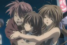 Clannad / WARNING THIS BOARD CONTAINS SPOILERS! An Anime, manga, and game, created by Tatsuya Ishihara and 	Fumihiko Shimo. It ran October 4, 2007 – March 27, 2008.