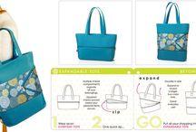 Fashionable Expanding Handbags and Totes
