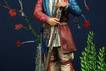 Woodland indians figures