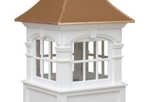 Signature Series Cupolas / Welcome to an era of time when elegance and detailed design in architecture flourished! Our Signature Series cupolas are inspired by the beauty of Old English Castles.These cupolas are crafted using cellular pvc-vinyl and capped with a copper roof.