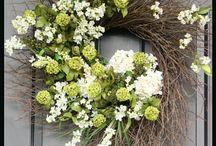 Dry botanical wreaths