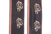 Historical ribbons trim lace costume decorations