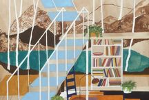 Charlotte Keates / Charlotte Keates artist painter art paintings interiors architecture north america california los angeles scandinavia sweden japan st ives cornwall for sale
