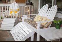 Covered Porch Design Ideas / New construction, coastal and Nantucket style covered porches and terraces of luxury homes.