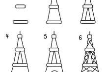 Drawing / Eiffel Tower