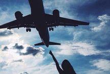 Sky & airplane✈️ / Sky, air, fly, airplane...