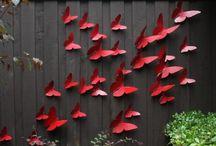 back yard fence art