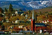 Towns & Cities Pacific North / Alaska, Montana, Oregon, Washington / by Kathy Walker