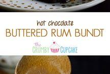 hot chocolate buttered rum bundt