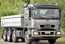 T SISU TRUCKS / Trucks of the brand SISU,a truck brand from FINLAND.
