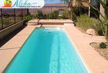 Lap Pools from Aloha Fiberglass Pools. / Lap Exercise Swimming Pools from Aloha Fiberglass Pools.