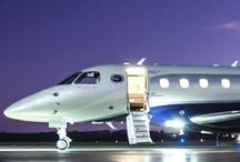 Private jets and helicopters