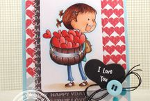 Valentines / Love / Cards and Gift Ideas using SugarPea Designs clear stamps.
