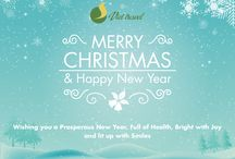 Happy Holiday / Wishing you a Prosperous New Year, Full of Health, Bright with Joy and lit up with Smiles !!!
