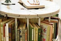 Spool book table / Old large spools