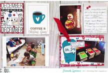 Clique Kits: December 2017 / Clique Kits inspirational & creative board featuring our December 2017 Kit. These pins are meant to inspire you as you scrapbook. Take inspiration from the Mood Board Pins or from the projects shared!