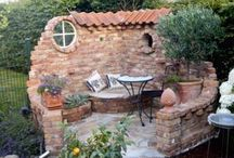 Garten rustikale Mauer