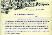 Vanhat kirjelomakkeet / Arkistoista löytyneitä hienoja vanhoja kirjelomakkeita