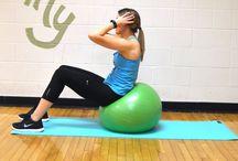 stability ball core workouts