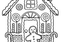 gingerbread houe colouring