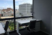プライベートプラン / 完全個室タイプのレンタルオフィススペースになります。本格的なビジネスでの使用、複数名でのご利用に最適です。