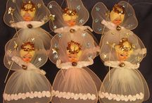 новогодние и рождественские куклы, ангелы