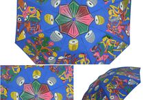 #HandPainted #Umbrella / Designer umbrellas with painting. that's a #canvas you carry with you. #pursuitin #santiniketan #handicrafts. www.pursuitin.com