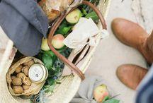 piknik, jídlo, stolování