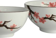Sakura Collection / Our Sakura collection features bowls, plates, cups and saucers of different sizes with handpainted sakura.