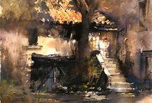 Akvarellképek