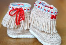 Crochet Shoes & Baby Booties / Adorable crochet booties for babies: Lovely ways to keep those precious toes all warm and snuggly. And no one likes cold feet... so there are some shoes to keep the bigger toes warm too. A selection of our favourite crochet inspiration and patterns. (We have a secret obsession with crochet - visit our blog for free patterns!!)