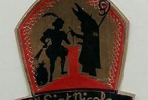 Sinterklaas cadeau labels-stickers / Sinterklaas 'oude' cadeau labels-stickers